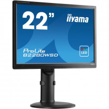"Monitor LCD 22"" Iiyama ProLite B2280WSD-B1, Grad A, 1680x1050, 5ms, VGA, DVI, Cabluri incluse"