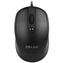 Mouse Delux M366 Black, USB, 1000/1600(default)/2400/3200 DPI