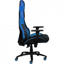 Scaun Gaming Inaza Predator negru cu albastru, Open Box