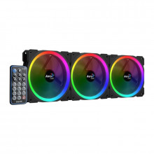 Ventilatoare Aerocool Orbit RC ARGB 3 Fan Pack, 120 mm, telecomanda