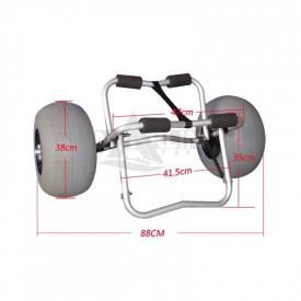 Carro kayak ruedas globo